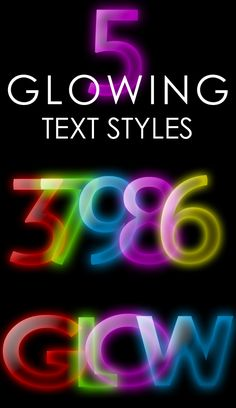Glowing Text Styles by ~ArtoriusGothicus on deviantART