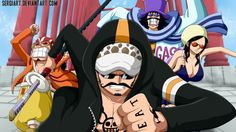 Anime Trafalgar Law Usopp Nico Robin Caeser Clown Sergiart 1920x1080