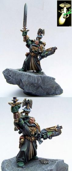 CoolMiniOrNot - Dark Angels Master Azrael by Lunchbox by Golden Toadstool