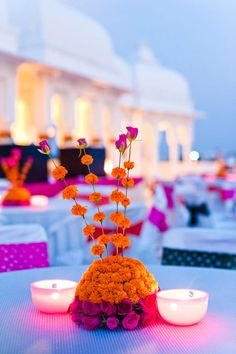 Innovative Indian Centerpiece Arrangement