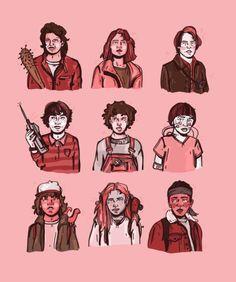 stranger things season 2 fan art - @bykellymalka