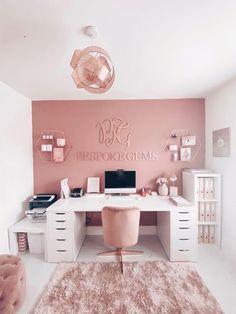 Room Design Bedroom, Room Ideas Bedroom, Home Room Design, Home Office Design, Diy Bedroom Decor, Spa Room Decor, Girl Room Decor, Small Room Design, Ikea Bedroom