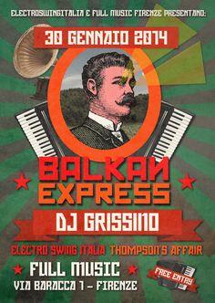 BAKAN EXPRESS with DJ GRISSINO Electro Swing, Dj, Comic Books, Comics, Movie Posters, Italia, Drawing Cartoons, Film Poster, Popcorn Posters