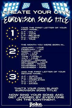 Eurovision - Lonley Love Rejoiuces!! Hahaha perfect.