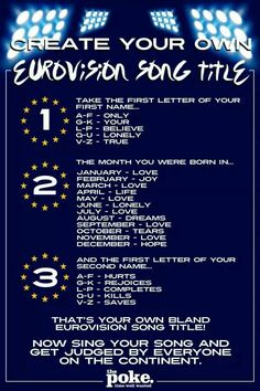 Eurovision - how cool is this!!!!!!!!!!!!!!!!!!!!!!!!!!!!!!