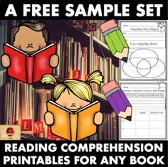 These FREE Character, Settings, and Plot activities can be used alongside any book! This sample set of 9 different activities is from my set of 100+ Reading Response Printables, Reading Group Helpers, and Graphic Organizers Pack! CHECK OUT THE FULL SET CLICK HERE