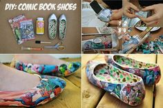 How to DIY Creative Comic Book Shoes