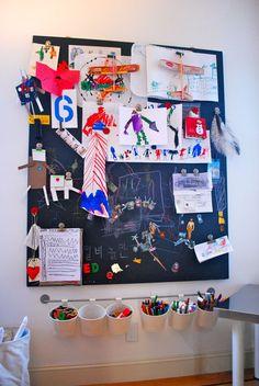 Magnetic Chalkboard from Fiddlesticks & Nonsense