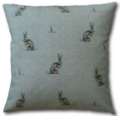 Designer Cushion Covers Hartley Hare Natural Linen Look Throw Pillows Cream Cushions, Animal Cushions, Brown Cushions, Cushion Covers Uk, Cushion Cover Designs, Pillow Covers, Hartley Hare, Cottage Crafts