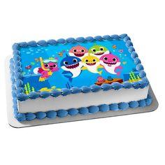 Shark Birthday Cakes, Birthday Sheet Cakes, First Birthday Cakes, Shark Cupcakes, Shark Cake, Girl 2nd Birthday, Birthday Ideas, Shark Party Decorations, Birthday Places