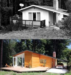 Humble Cabin Transformed Into A Sleek Modern Home. #TinyHouseforUs