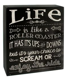 Another great find on #zulily! Black & White 'Life' Wall Box Sign #zulilyfinds