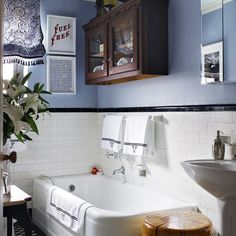 Looking for small bathroom ideas? Take a look at our best small bathroom design ideas to inspire you before you start redecorating your small bathroom 1920s Bathroom, Art Deco Bathroom, Bathroom Design Small, Downstairs Bathroom, White Bathroom, Modern Bathroom, Bathroom Designs, Design Kitchen, Eclectic Bathroom
