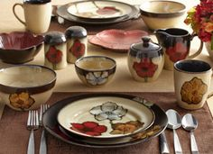 Painted Poppies Dinnerware | Serveware Collection | Pfaltzgraff Everyday