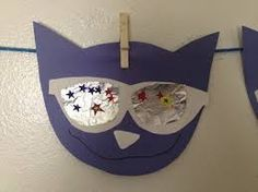pete the cat and his magic sunglasses easy art project