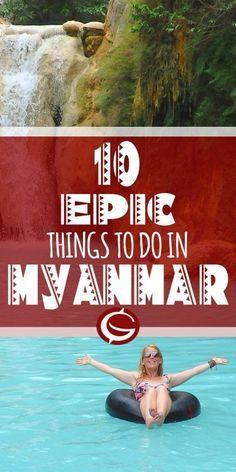 Top adventure travel options in Myanmar (Burma), including Inle Lake, Hpa An, Mandalay, and Bagan.