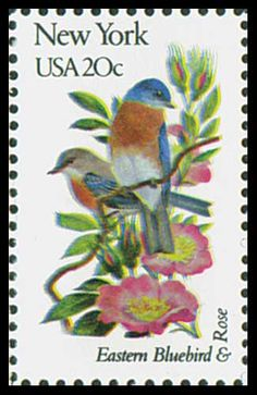 1982 20c New York State Bird & Flower - Catalog # 1984 For Sale at Mystic Stamp Company