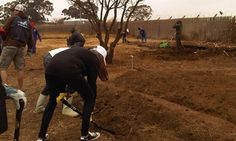 Volunteers at Westbury Hostels, cleaning the hostels, planting trees and a food garden for Mandela Day. Picture: Hagashni Arumugam/iWitness