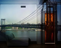 Abelardo Morell  Camera Obscura: View of the Manhattan Bridge-April 30th / Morning, 2010