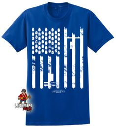 American power flag- lineman shirts Power Lineman, Lineman Shirts, Custom Flags, How To Make Tshirts, Flag Design, American Made, Short Sleeve Tee, Hoodies, Manly Man