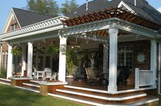 covered deck designs | adjacent to weigh the homeowner collaborated with your designs yes WHITE COLUMNS