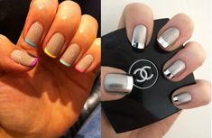 manicura-francesa-moderna Beauty Hacks, Beauty Tips, Mani Pedi, Nail Designs, Hair Beauty, Nail Art, Nails, Chanel, Clothing