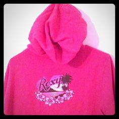 L Roxy zip up hoody Bright pink zip up sweater L Roxy Sweaters