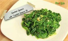 Vegetables:  How to Make Sauteed Spinach with Sesame Oil