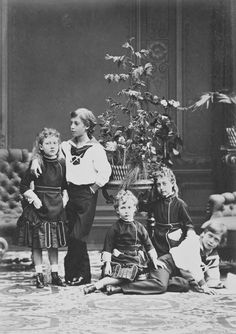 The children of the Prince and Princess of Wales, 1874