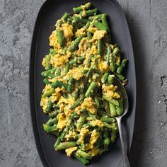 This easy brunch dish of scrambled eggs with asparagus is almost embarrassingly simple, but when asparagus is abundant, we use it in every dish we can.