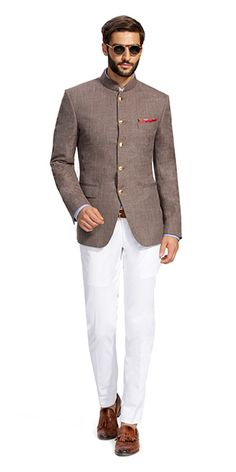 Make a style statement with our wide range of customized ethnic wear for men. View finely tailored custom made sherwani, bandhgala jacket and more at Herringbone & Sui. Mens Indian Wear, Mens Ethnic Wear, Indian Groom Wear, Indian Men Fashion, Mens Fashion Suits, Mens Suits, Wedding Dresses Men Indian, Wedding Dress Men, Wedding Suits
