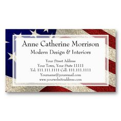 Usa flag photo business cards business cards pinterest reheart Images