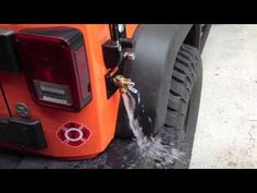 Pressurized Running Water on Jeep Wrangler JK - I think I would rather have this on a trailer my vehicle towed!