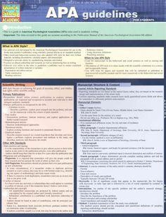 APA Guidelines