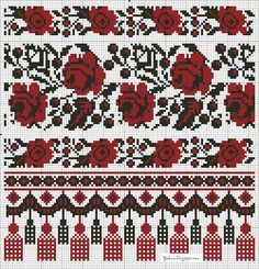 Ukraine, pattern for stitch Chain Stitch Embroidery, Beaded Cross Stitch, Cross Stitch Flowers, Cross Stitch Charts, Cross Stitch Designs, Embroidery Stitches, Embroidery Patterns, Hand Embroidery, Cross Stitch Patterns