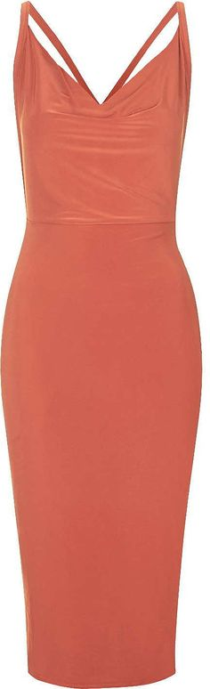 Womens rust dress from Topshop - £35 at ClothingByColour.com