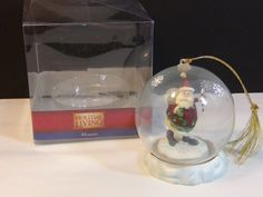 Holiday Living Santa Claus In Globe Collectible Christmas Ornament     eBay