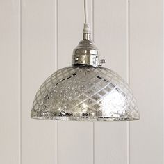 Buy At Home > Lighting > Antiqued Cut-glass Ceiling Light from The White Company Glass Light Shades, Glass Pendant Light, Glass Pendants, Pendant Lighting, Glass Ceiling Lights, Luxury Chandelier, The White Company, Cool Lighting, Cut Glass