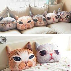 Creative Cat Shape Car Cushion Cover Chair Pillow Case 3D Print Soft Xmas Gift in Home, Furniture & DIY, Home Decor, Cushions | eBay