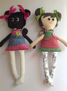 Coco and Vanilla Cocoa Cherry baby wearing dolls
