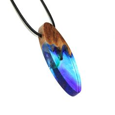 Resin wood jewelry Magic world jewelry Secret jewelry Magic  Handmade jewelry by WoodAllGood #WoodAllGood