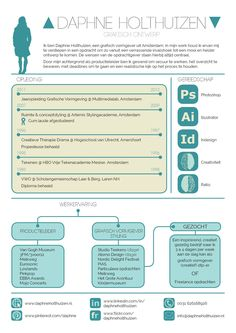 cv infographic Daphne Holthuizen