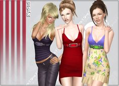 Tank Set With Belt ~ NyGirl Sims