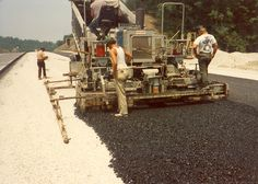 Historical paving photo in Eastern Kentucky Asphalt Pavement, Historical Pictures, Kentucky, Construction, Rollers, Life, Photos, Heavy Equipment, Building