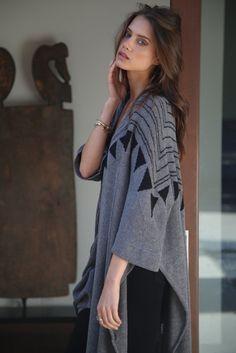 Goddis Morrison Kimono in Timberwolf