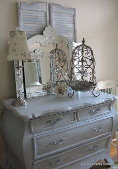 Another repurposed dresser idea (we've inherited LOTS of old dressers).