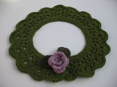 Items similar to Moss Green Crochet Collar In Soft Irish Wool With Detachable Flower Pin on Etsy Crochet Collar, I Shop, Irish, Crochet Earrings, Wool, Cool Stuff, Creative, Green, Flowers