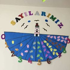 Top 40 Examples for Handmade Paper Events - Everything About Kindergarten High School Classroom, Preschool Classroom, Pre School, Classroom Decor, 4 Year Old Activities, Preschool Activities, Number Activities, Old English Decor, Kids English