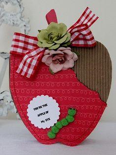 apple shaped card