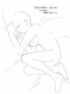 Ideas drawing poses sleeping for 2019 Drawing Base, Manga Drawing, Figure Drawing, Drawing Sketches, Art Drawings, Drawing Tools, Sleeping Pose, Sleeping Drawing, Manga Posen